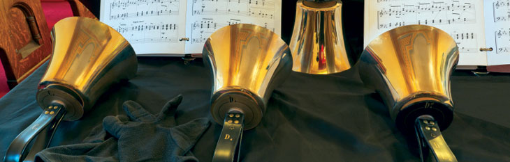 Bells with sheet music