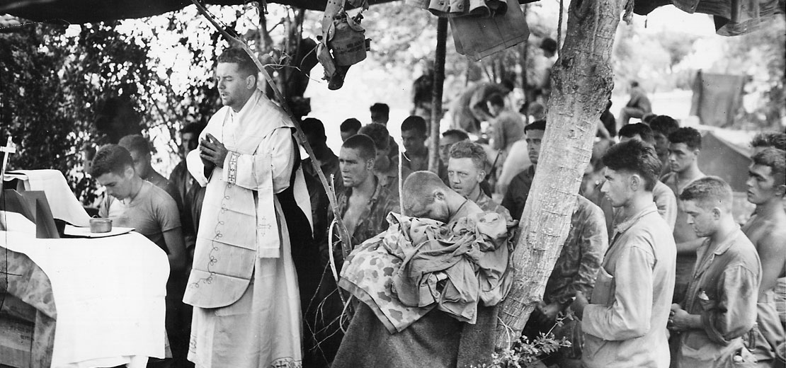 Saipan Mass with troops