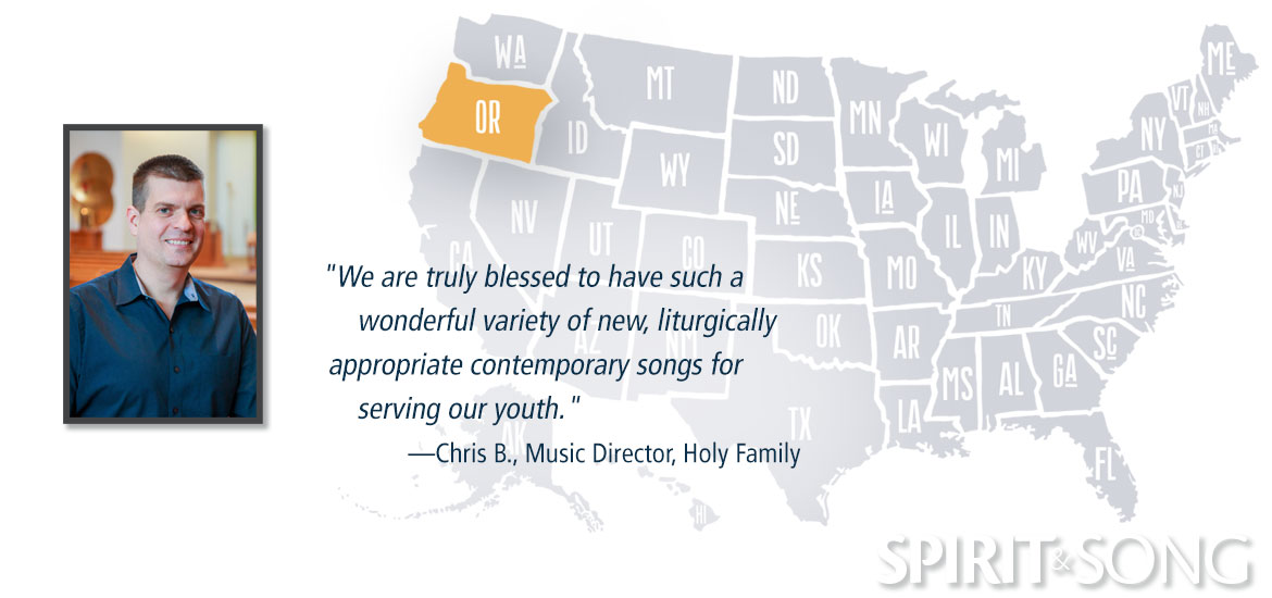 Holy Family map and Music Director Chris