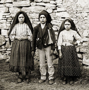 The visionary children of Fatima Lucia, Francisco & Jacinta