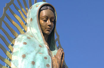 Lady of Guadalupe statue