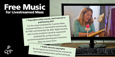 Free Music for Livestreamed Mass
