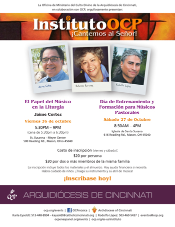 OCP Institute–Sing to the Lord!