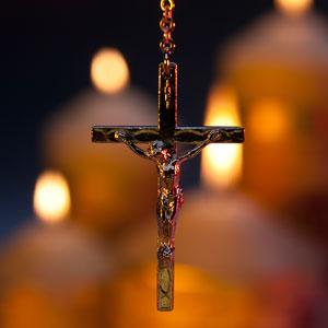 catholic cross medallion
