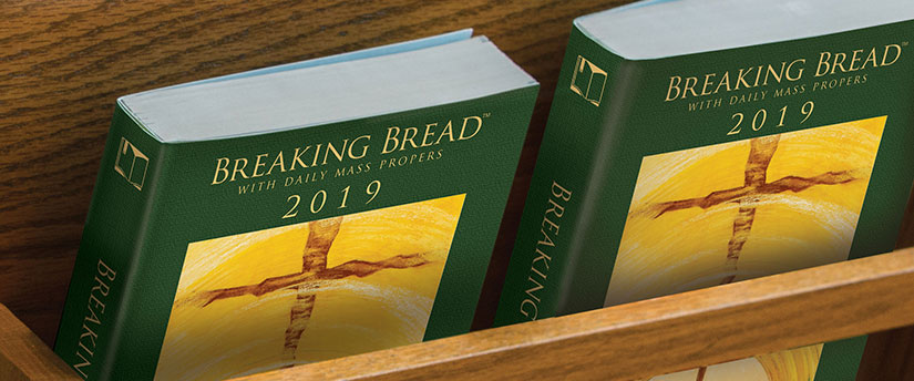 Breaking Bread missals in pew