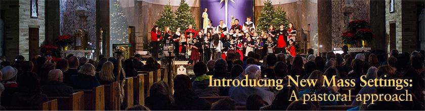 Christmas choir at church