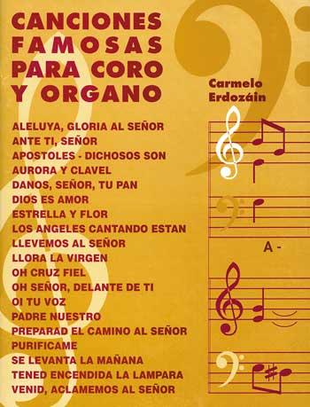 Canciones Famosas Coro y Organo 1